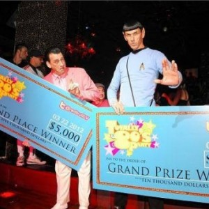 Spock Vegas Wins Best Look-Alike. Grand Prize $10K, TAO, Las Vegas.