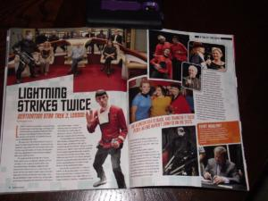Star Trek Special Magazine. Central page with TNG cast.